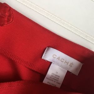 Cache Skirts - Caché Red Pencil Skirt